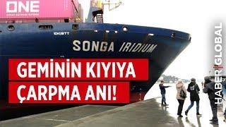 İstanbul Boğazı'nda Geminin Kıyıya Çarpma Anı!