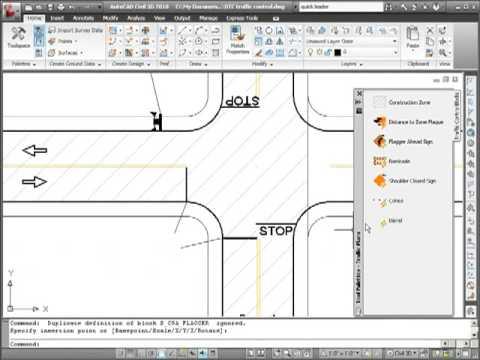 dynamic blocks for traffic control plans youtube. Black Bedroom Furniture Sets. Home Design Ideas