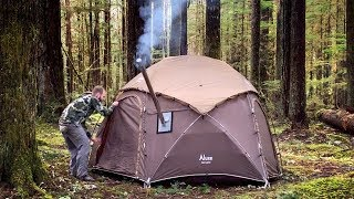 Enchanted Forest Camp | Hot Tent Coffee and Steak