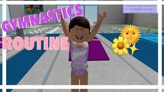 My Gymnastics Routine| Roblox Bloxburg