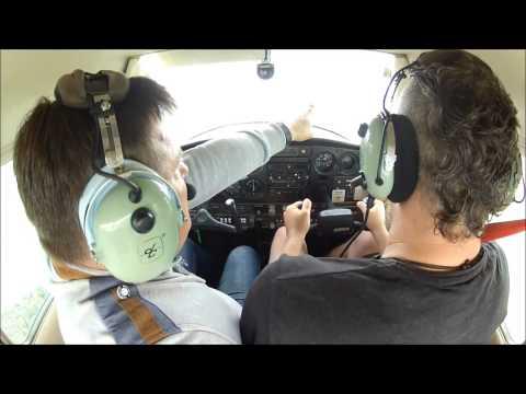 Cessna 152 (SP-KIO) EPPK, widok z kabiny, lot turystyczny