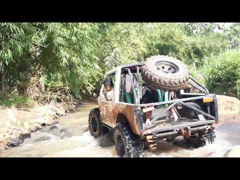 Ganasnya trabas lewat sungai batu | offroad extreme