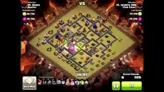 Clash of Clans - Sparta 300 of ~Club Clash~ 3 Star Golem Jumping Magic