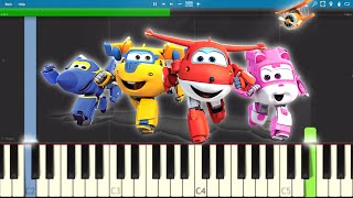 Super Wings Theme Song - EASY Piano Tutorial