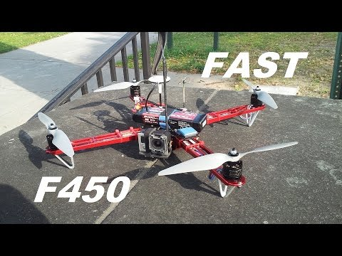 DJI F450 Flame Wheel Lighting 100kph 62mph flight with 3s