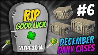 RIP LUCK 2014-2014 ★ DECEMBER DAILY CASES DAY 6 - CS:GO CASE OPENING / UNBOXING