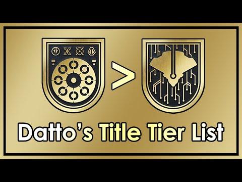 Destiny 2: Datto's Title Tier List