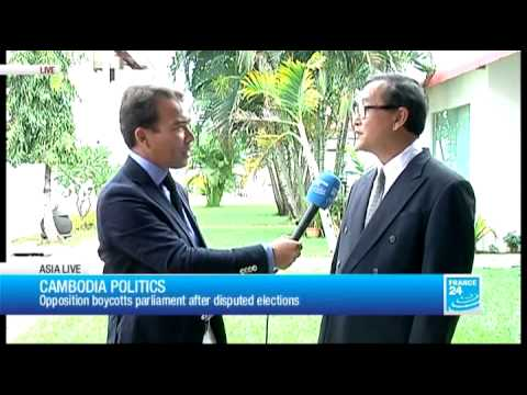Cambodia crisis: opposition leader gives interview to France 24 - #AsiaLive