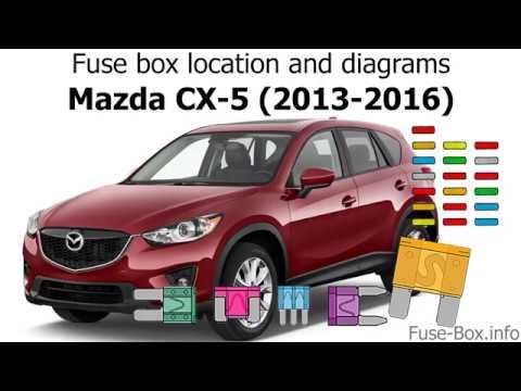 Fuse box location and diagrams Mazda CX-5 (2013-2016) - YouTube