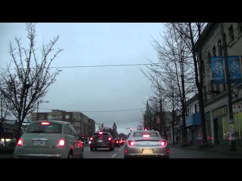 MAIN STREET Vancouver British Columbia Canada | Sightseeing Drive w/ Jazz BGM