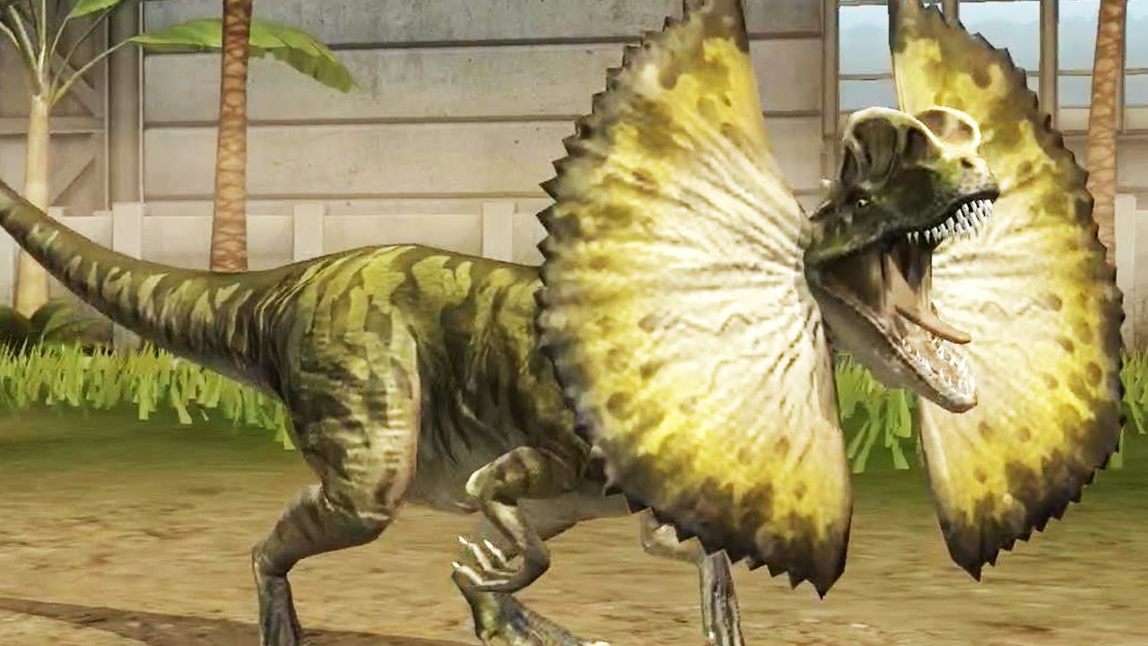 Jurassic World: The Game - Dilophosaurus [Evolved 2] - YouTube