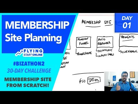 Planning Out A Membership Site Business. Core Building Blocks! - (Day 1/30) #Bizathon2