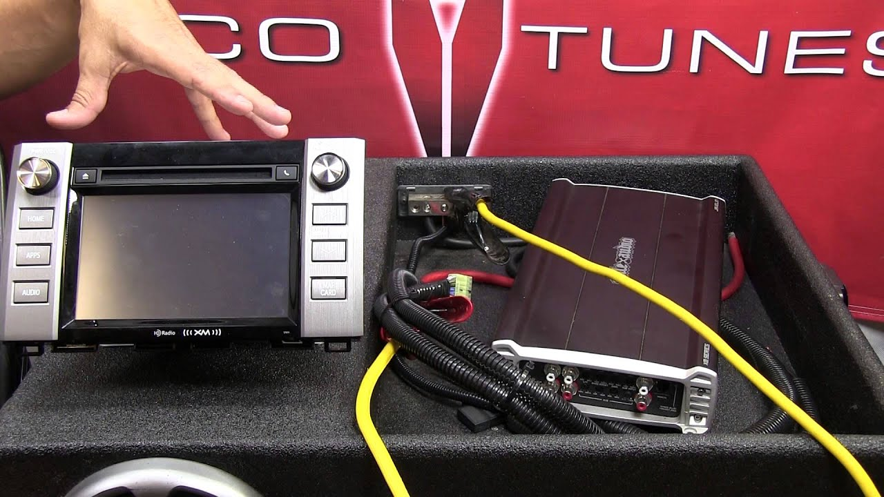 add amplifier 2014 2017 tundra entune stock factory head unit stereo tundra radio wiring  [ 1280 x 720 Pixel ]