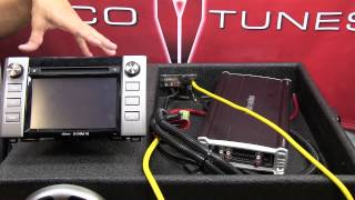 Add amplifier 2014 2015 Tundra Entune stock factory head unit stereo radio Recurve EZQ  LOC line out