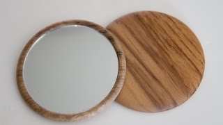 Wood Turning Projects Compact Makeup Mirror
