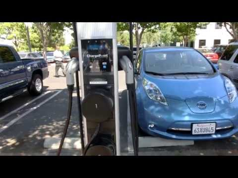 Electric Vehicle EV Charge stations at Microsoft parking area in Silicon Valley - 2013