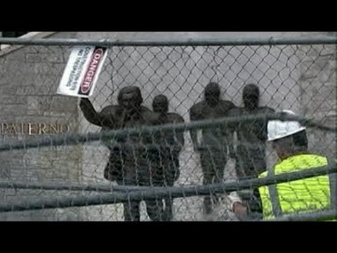 Joe Paterno Statue Taken Down; NCAA to Punish Penn State With Severe Sanctions