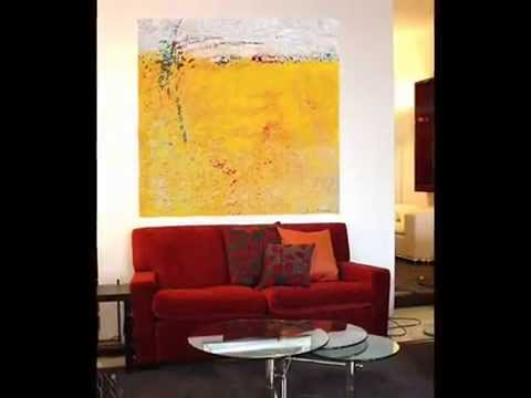 wohnideen - wohnzimmer - wohnen mit kunst - galerie atelier-outlet, Wohnzimmer