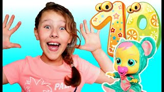 Pretend Play with Cray Baby Doll and Miracle Eggs Learn Numbers by Miss Emi