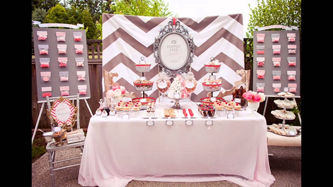 Home Party Decoration Ideas Part - 31: Engagement Party At Home Decor Ideas - YouTube