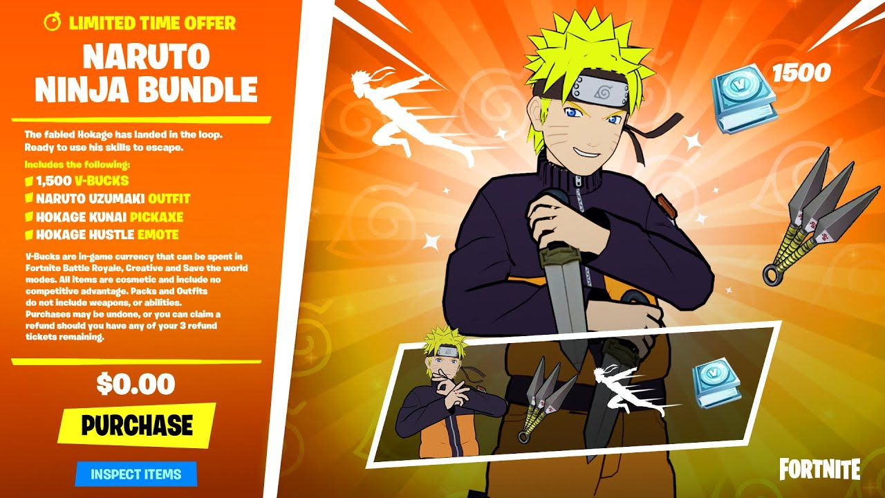 Download NARUTO BUNDLE in FORTNITE! (Finally)..
