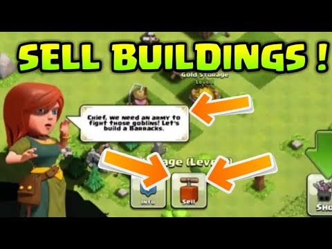 SELL BUILDING IN CLASH OF CLANS ! GAMPLAY + REAL PROOF !