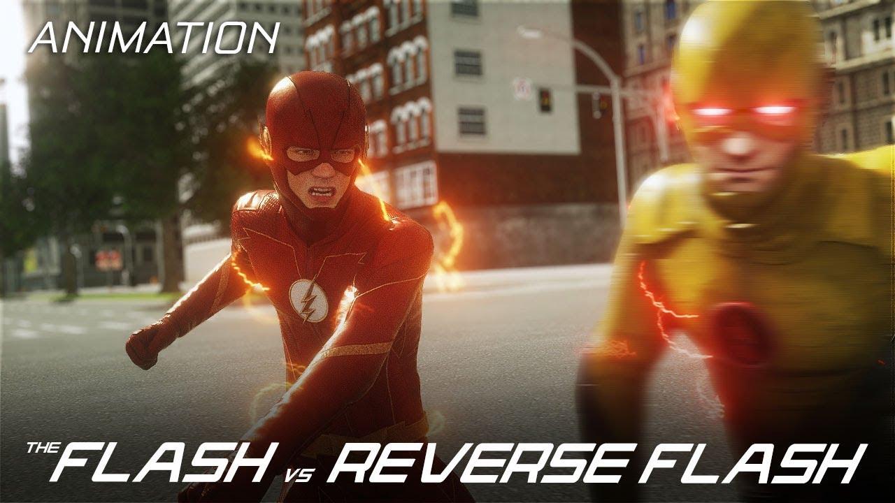 The Flash Vs Reverse Flash Part 1 Cw 3d Fan Animation Youtube
