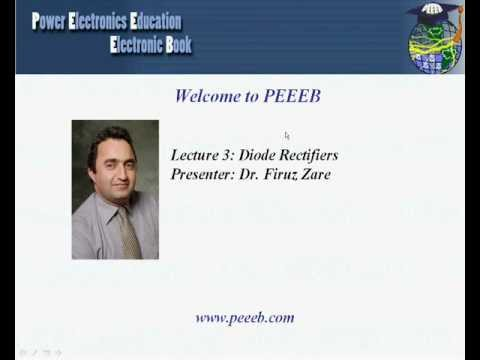 PEEEB - LECTURE 3 - PART A: DIODE RECTIFIERS