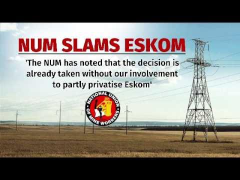 Num to protest over Eskom plans