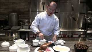 Tam Prepares A Signature Dish With Expensive Ingredients At Jade Dragon, Macau