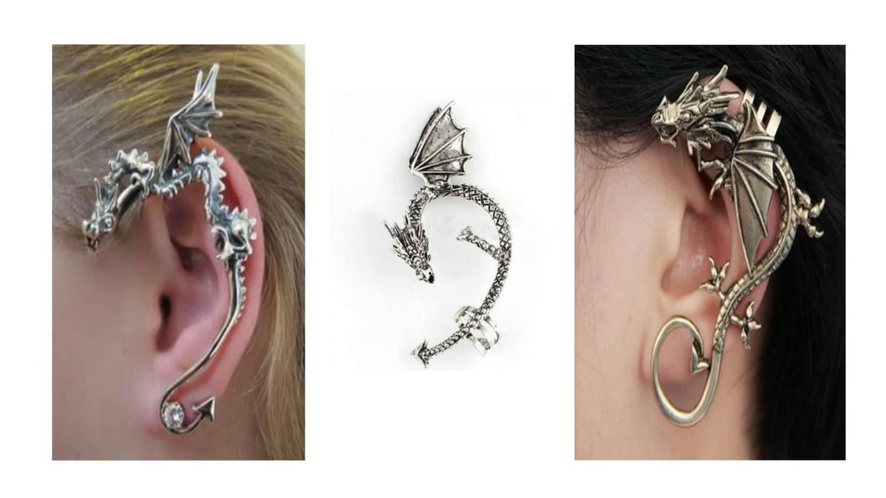 Dragon Ear Cuff - Dragon Cuff Earring - YouTube