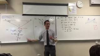 Mechanics (5 of 7: Resolving Forces to find the Horizontal forces acting on both strings)