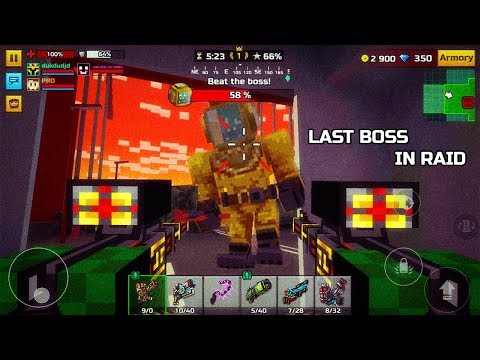 Last Boss In Raid! - Pixel Gun 3D 16.2 How To Win Raid In New Update