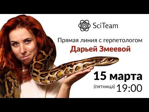 Прямая линия с герпетологом Дарьей Змеевой