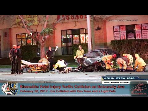 Riverside: Fatal Traffic Collision on University Ave