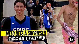 "LaMelo Ball SURPRISED By TOPLESS FAN! ""Melo Be My Daddy"" LOL WTF!!"