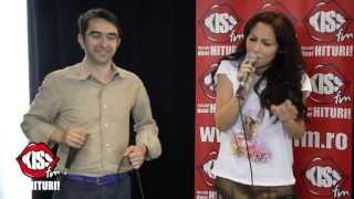 Andra si Mihai Gainusa - Vreau Sarutarea Ta live la Kiss FM