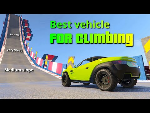 GTA V Which vehicle is best for climbing | The Climb Test