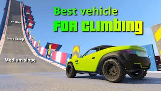 GTA V Which Vehicle Is Best For Climbing  The Climb Test