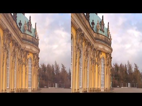 3D  Potsdam Sanssouci Park und Schloss