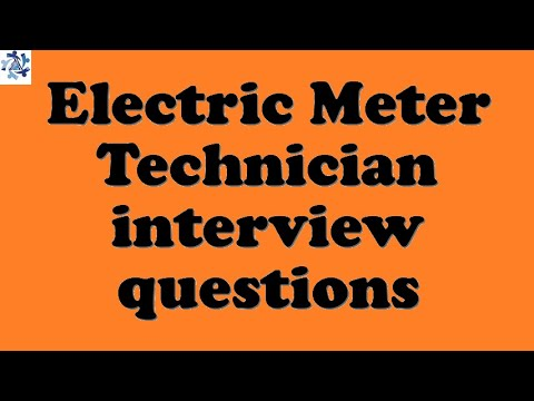 Electric Meter Technician interview questions