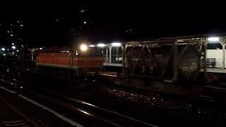 2019/10/26 【瀬野八】 JR貨物 5052レ EF210-163 & EF67 102 向洋駅 | JR Freight: Cargo & Bank Engine at Mukainada