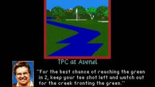 PGA Tour Golf II (SMD) TPC at Avenel fly by hole previews