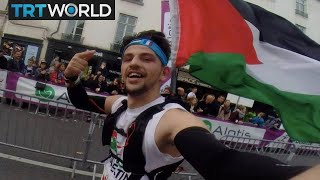 Palestinian runner denied entry to US