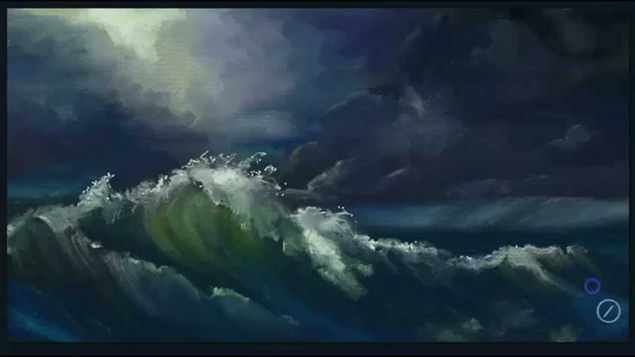 how to quickly paint a stormy ocean in artrage studio pro youtube