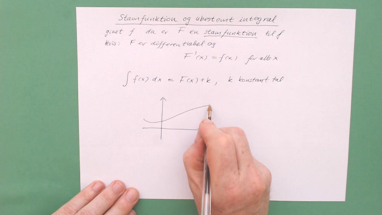 stamfunktion og ubestemt integral