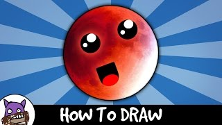 How To Draw - Super Blood Moon