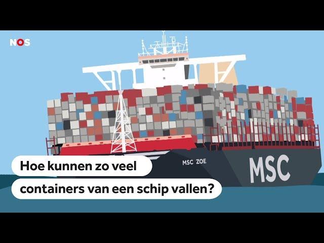 UITGELEGD: Hoe kunnen zo veel containers van een schip vallen?