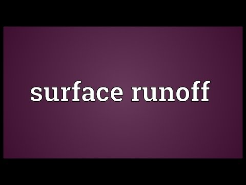Surface runoff Meaning