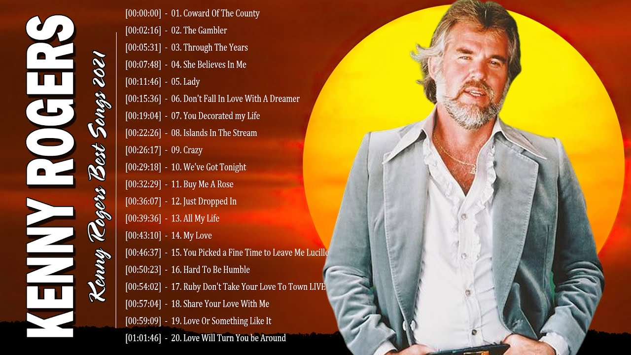 Kenny Rogers Greatest Hits Full Album - Kenny Rogers Best Songs 2021 - Kenny Rogers Playlist